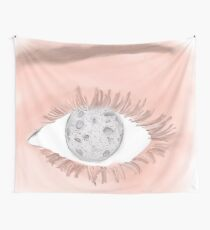 Eyes Are The Size Of The Moon Wall Tapestry