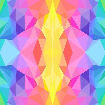 Vibrant Abstract Rainbow by EloisaRelish