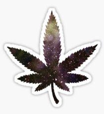Marijuana leaf - universe Sticker