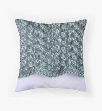 Duck egg lace knit Throw Pillow