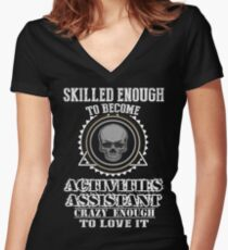ACTIVITIES ASSISTANT BEST COLLECTION 2017 Women's Fitted V-Neck T-Shirt