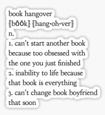 book hangover Sticker