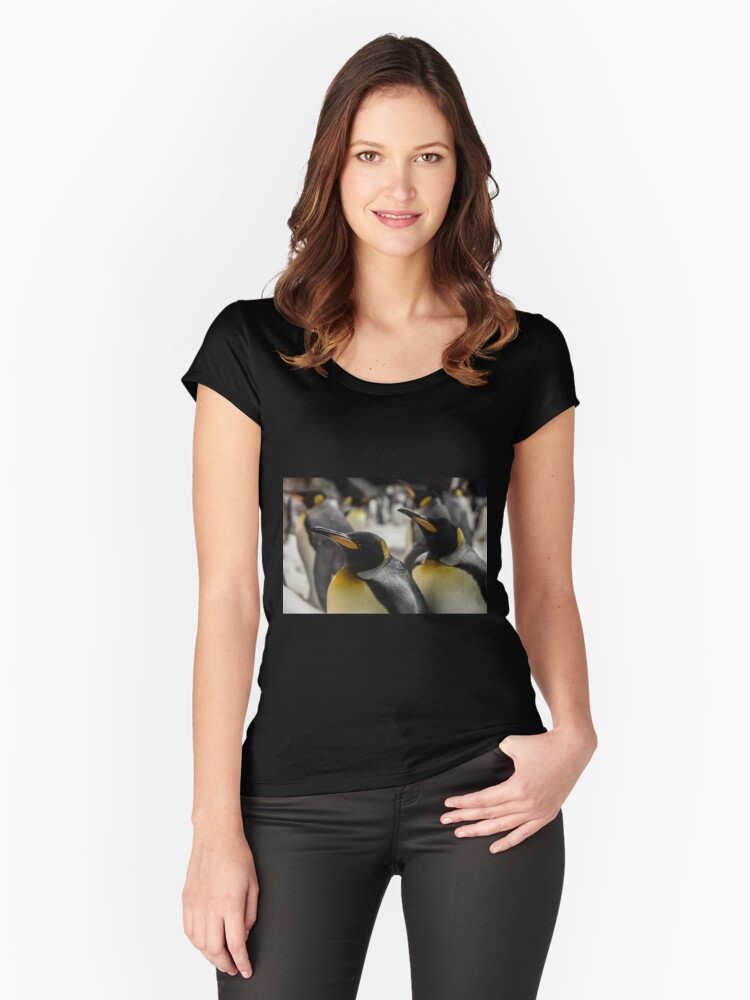 Penguins Women's Fitted Scoop T-Shirt Front
