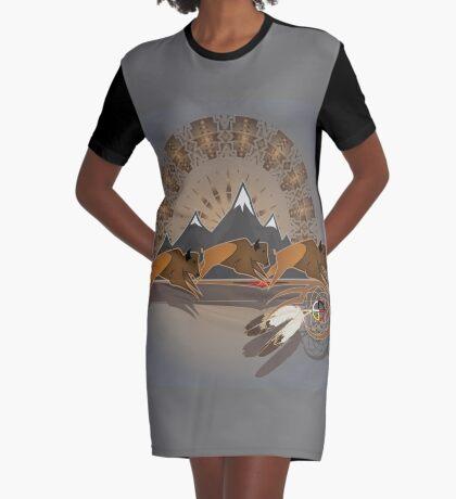 Buffalo People Graphic T-Shirt Dress
