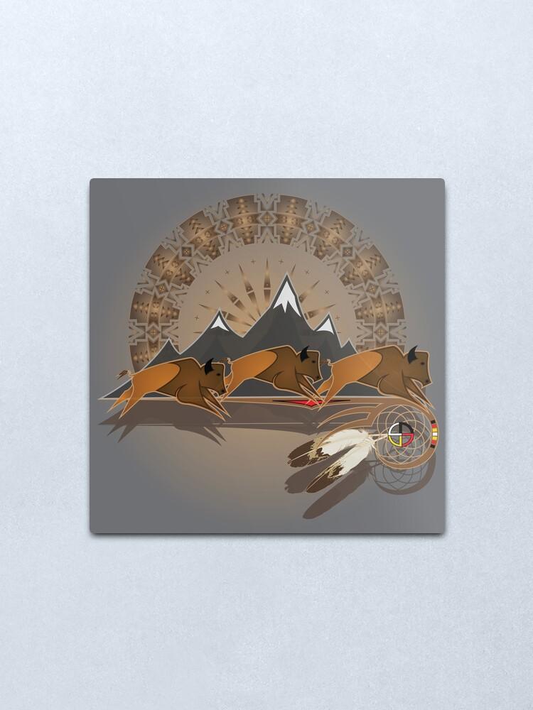Alternate view of Buffalo People Metal Print