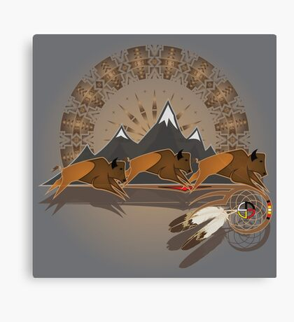 Buffalo People Canvas Print