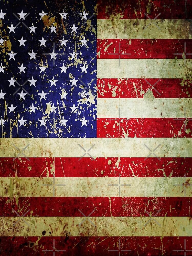 American Flag - Grunge Vintage Aged US Flag by itsjensworld
