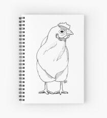 Huhn schwarz - weiß Spiral Notebook