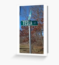 Tesla st Greeting Card