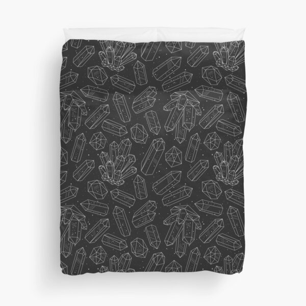 Black Crystals Duvet Cover