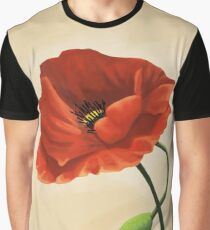 Poppy / Mohnblume by MePlayItOnline MPIO Graphic T-Shirt