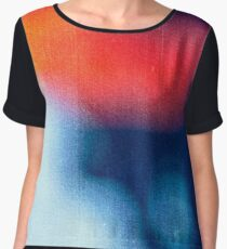 BLUR / burning ice Women's Chiffon Top