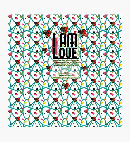 I am Love Photographic Print