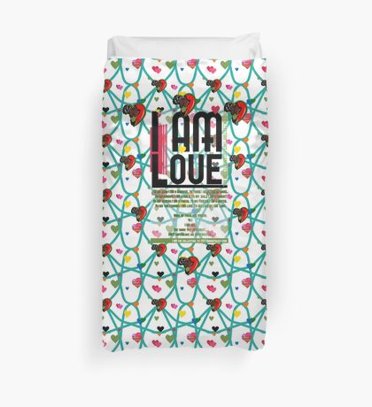 I am Love Duvet Cover
