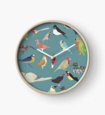 Oiseaux Alphabetiques -  A to Z birds - papercuts Clock