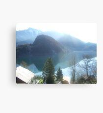 View of Lake Wofgangsee - St Gilgen Austria Canvas Print