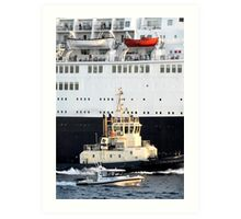 Escorting the QE2 Art Print