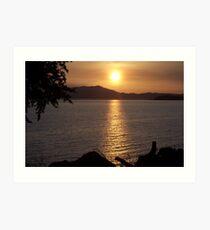 Setting Sun Over The Marin Headlands Art Print