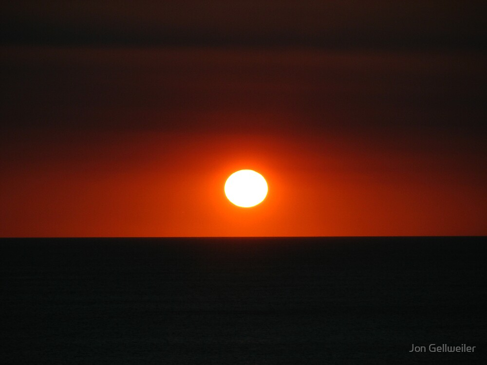 Upon the Setting sun, dream your dreams, may they be done by Jon Gellweiler