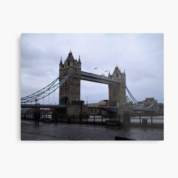 Tower Bridge Rainy Day Metal Print