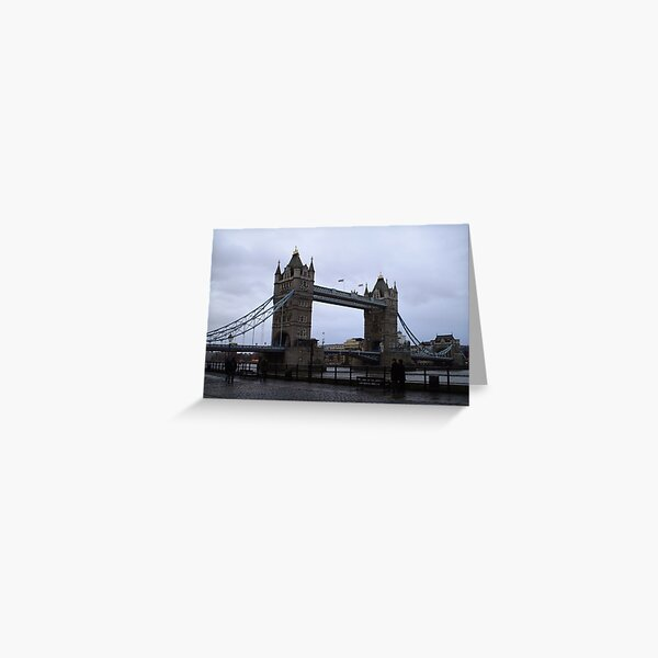 Tower Bridge Rainy Day Greeting Card