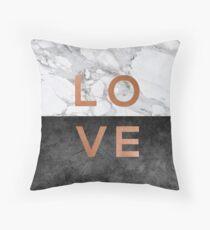 Love - Copper Throw Pillow