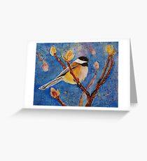 Darling Little Chickadee Greeting Card