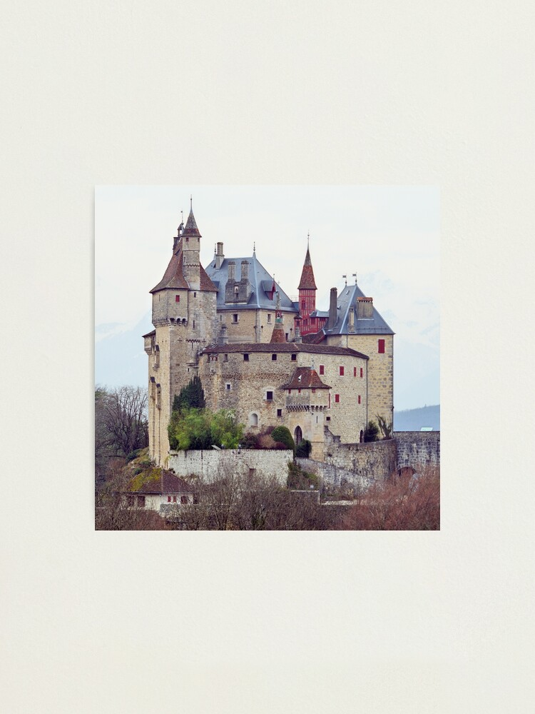 Alternate view of Menthon Saint Bernard castle Photographic Print