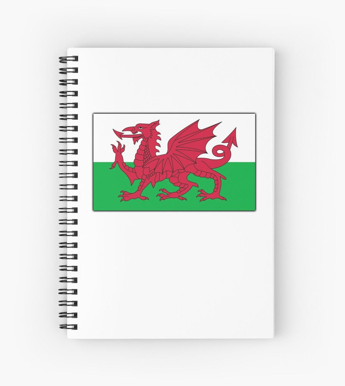 Cuadernos de espiral «GALES, BANDERA DE WELSH, BANDERA DE GALES ...