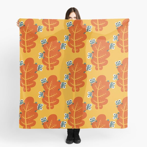 Cute Bugs Eating Autumn Leaves Scarf