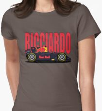 Ricciardo NO SPONSOR F1 Car Women's Fitted T-Shirt