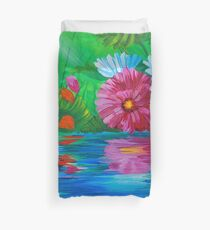 Restful Reflection of a daisy Duvet Cover