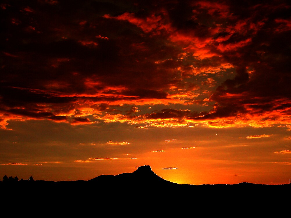 Sunset on Thumb Butte by Wilson Wyatt  Photography