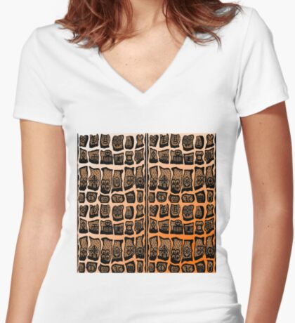 FIre Within  Women's Fitted V-Neck T-Shirt