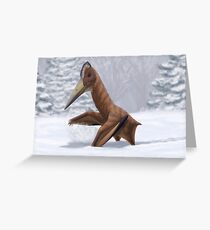 Pterosaur Snow Day Greeting Card