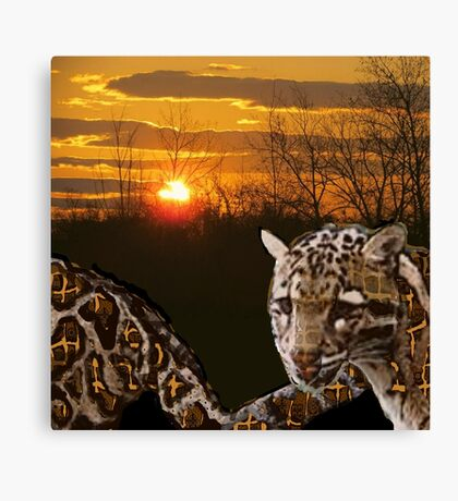 Fire Leopard Canvas Print