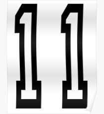 11, TEAM SPORTS, NUMBER 11, Eleven, Eleventh, Competition Poster