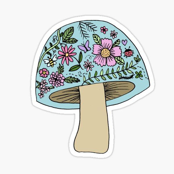 Garden Mushroom Sticker