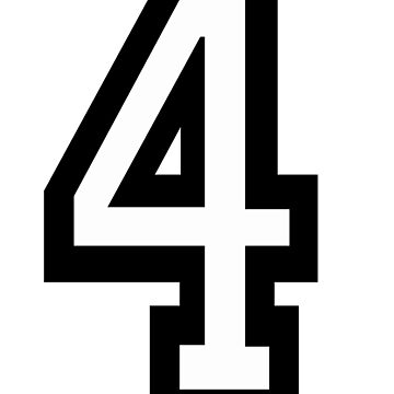 4, TEAM, SPORTS, NUMBER 4, FOUR, FOURTH, Competition, Quatro by TOMSREDBUBBLE
