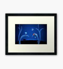 Alien and Chameleon Framed Print
