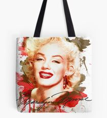 Marilyn Monroe watercolor signature Tote Bag