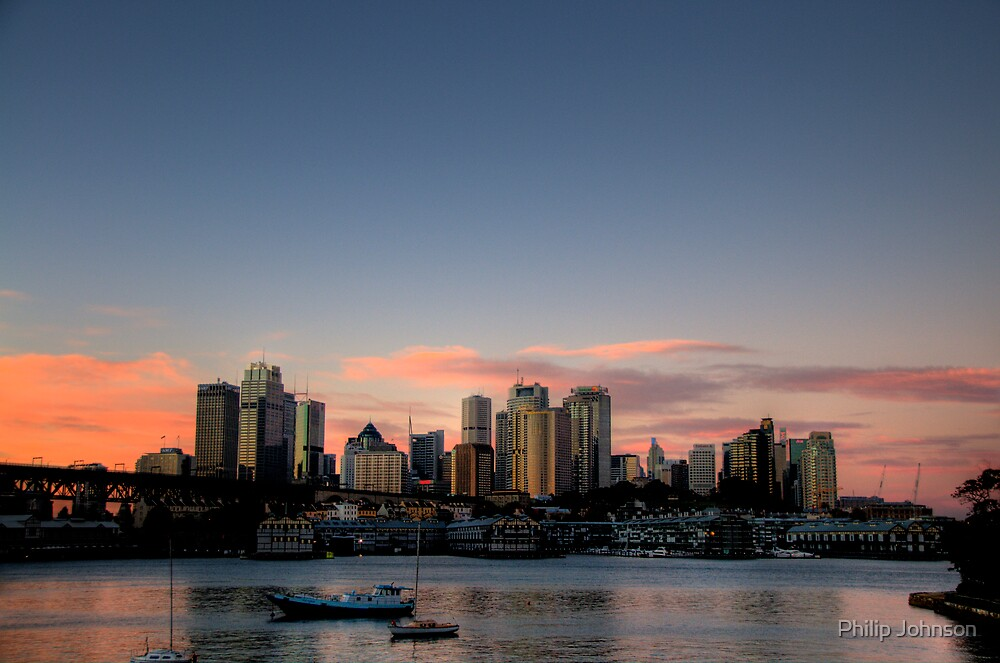Sky - Moods Of A City # 9 - The HDR Series - Sydney Harbour, Sydney Australia by Philip Johnson
