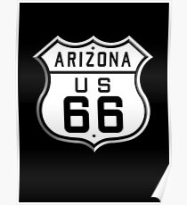 ARIZONA, America, U.S, Route 66, Music, USA, 1926 to 1948, Americana Poster