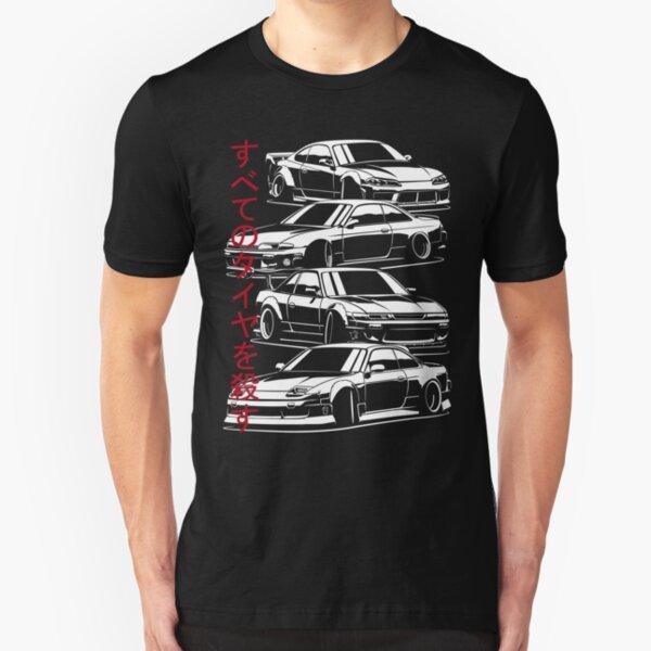 Kill all tires. Silvia S13, S14, S15  Slim Fit T-Shirt