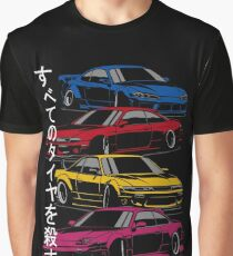 Kill all tires. Silvia S13, S14, S15 (color) Graphic T-Shirt