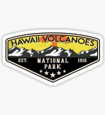 HAWAII VOLCANOES NATIONAL PARK VOLCANO HIKING NATURE EXPLORE CAMPER 2 Sticker