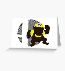 Wario (Classic) - Sunset Shores Greeting Card