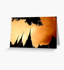 THAILAND TEMPLES.... Greeting Card