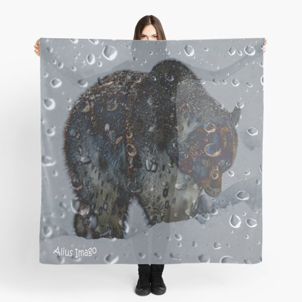 Raindrops - Grizzly Bear Scarf