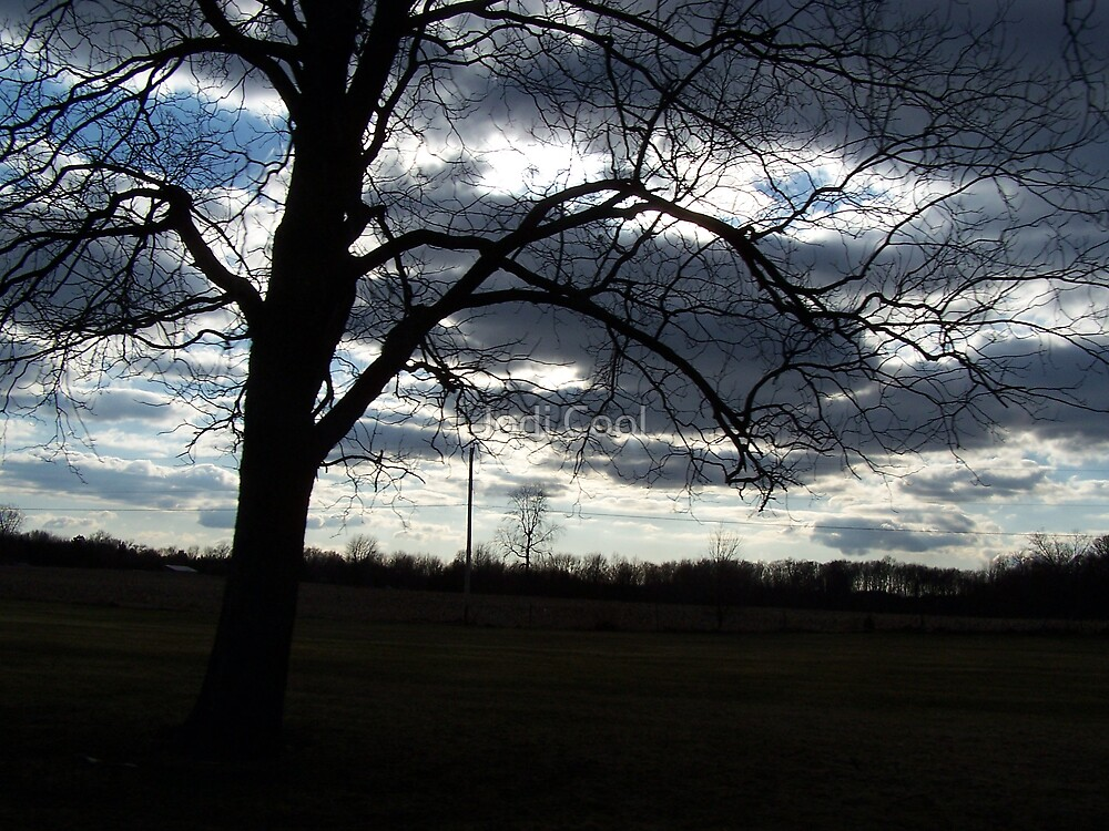 tree and clouds by Jodi Cool